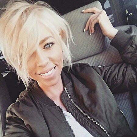 Hair Blonde Choppy Short