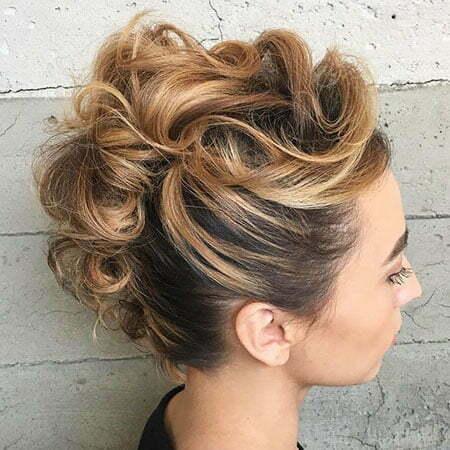 Hair Updo Chignon Prom