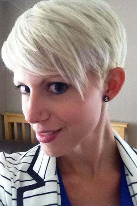Short Pixie Hair Blonde