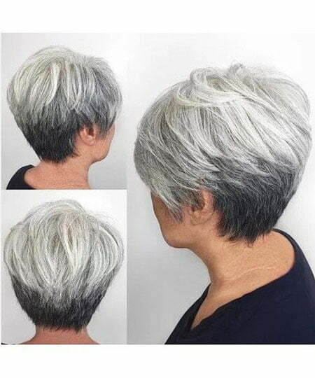 Gray Pixie Short Women