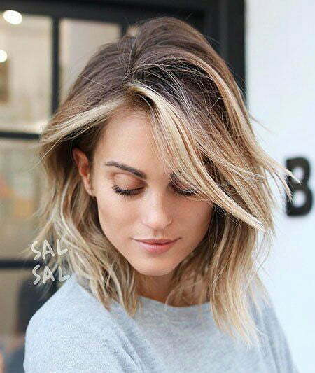 Balayage Blonde Hair Short
