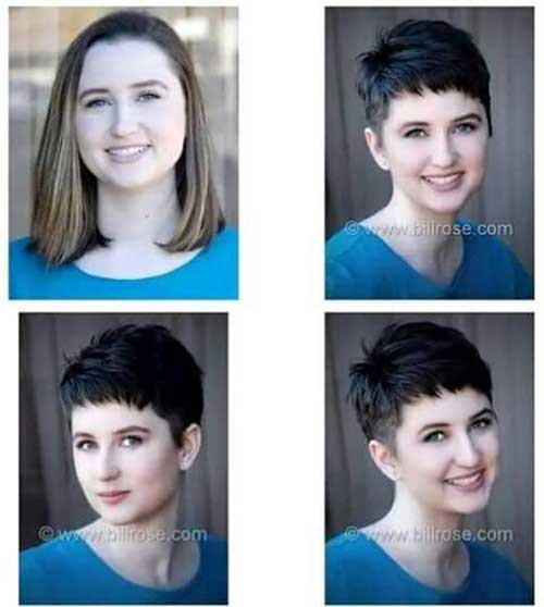 Before and After Short Haircuts-12