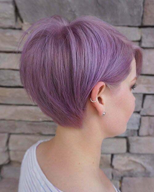 Short Pretty Color Hair
