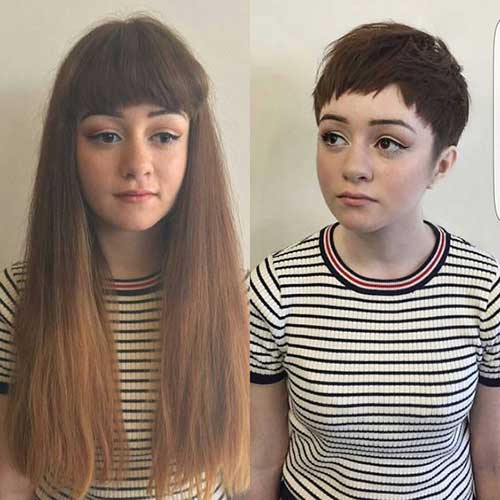 Before and After Short Haircuts-7