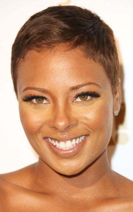 Black Natural Hairtyle for Short Thin Hair, Black Women Nia Long