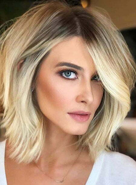 Hair Color Idea for Short Haircuts, Blonde Hair Color Cara