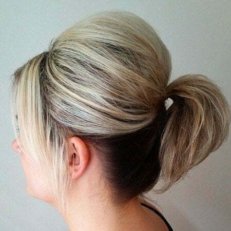 Ponytail Hairtyle for Short Hair, Pixie Thin Parted Side