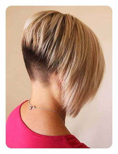 Short Inverted Bob Hairtyle, Layered Bob Blonde Inverted