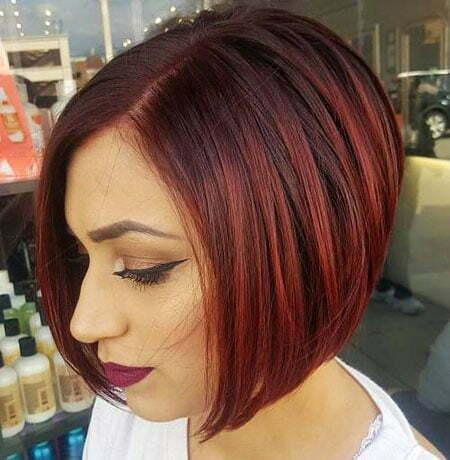 Bob Burgundy Sleek Hair