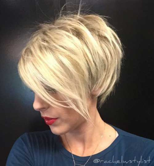 Stacked Short Haircuts-10 &quot;title =&quot; 10.Stacked Short Haircut &quot;/&gt;</a></p><h2>11. Langer Shaggy Pixie Cut</h2><p> <a href=