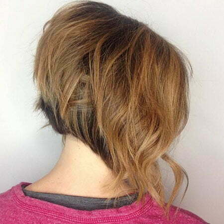 Angled Layered Bob Cut