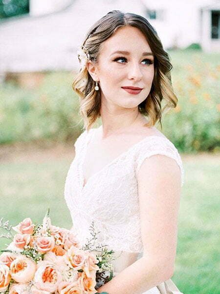 Wedding Hair Pretty Bouquet