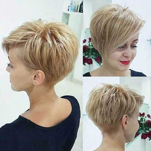 Stacked Short Haircuts-13 &quot;title =&quot; 13.Stacked Short Haircut &quot;/&gt;</a></p><h2>14. Aschblondes kurzes Haar</h2><p> <a href=