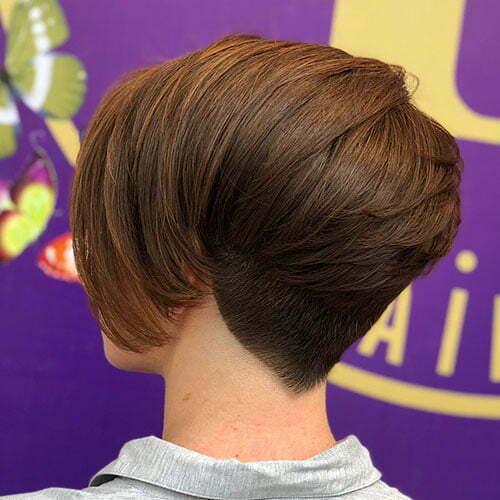 Short Layered Brown Haircut 2018