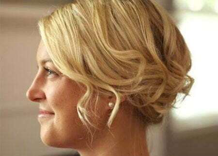 Curly Length Hairtyles Updo