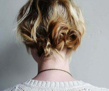 Layered Updo Messy Wavy