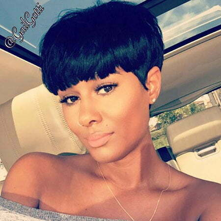 Bowl Pixie Cut Black Hair