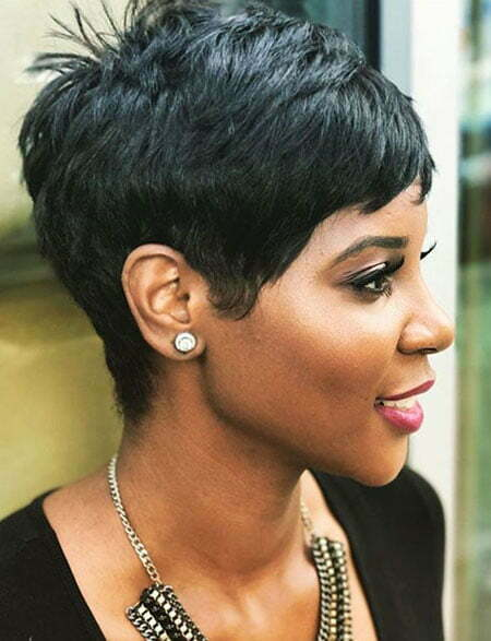 Pixie Black Choppy Short