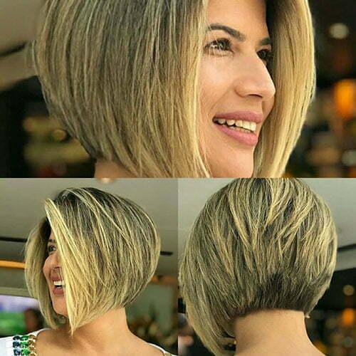 Short Layered Inverted Bob Hair