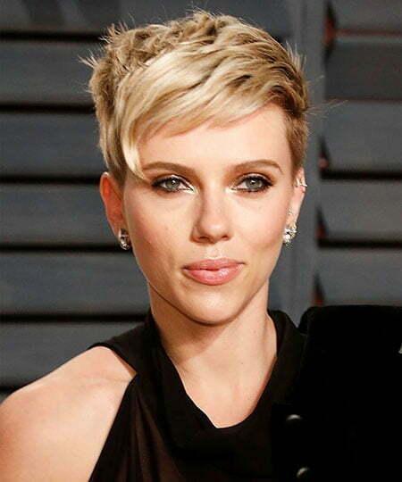 Scarlett Johansson Pixie Hair