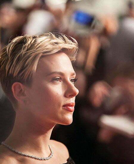 Scarlett Johansson Pixie Black