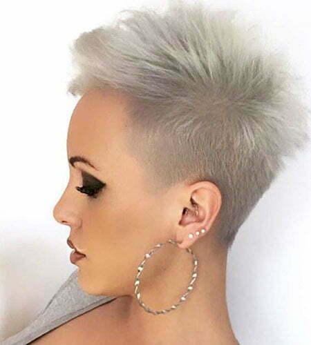 Punk Style Pixie, Undercut Hair Pixie Short