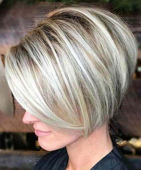 Blonde Short Bob Haircut, Bob Blonde Balayage Ash