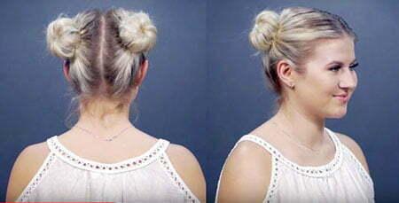Cute Two Buns, Hairtyles Hair Lob All