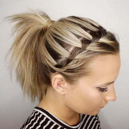 Braided Ponytail Style, Hairtyles Hair Short Braided