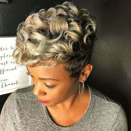 Curly Pixie Cut for Black Women