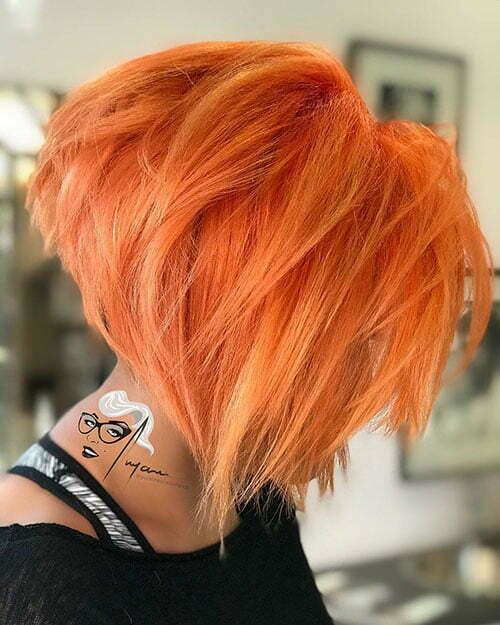 Short Orange Hair Color