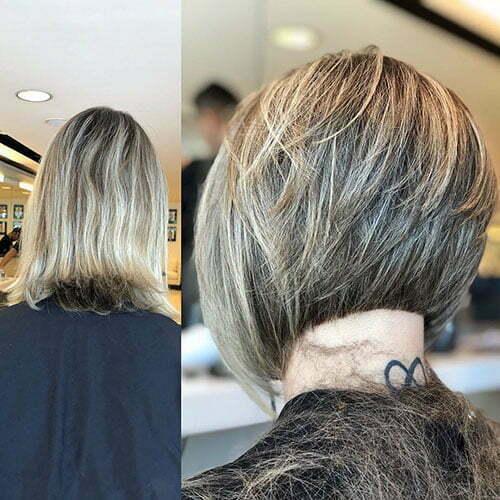 Short Layered Bob Back View Hair