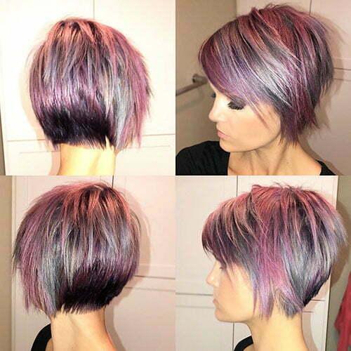 Short Cute Hair Color