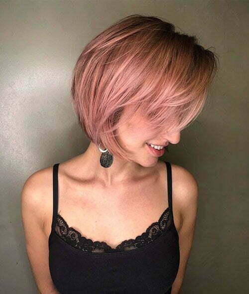 Layered Short Hair for Girls