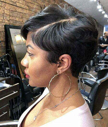 Black Pixie Cut