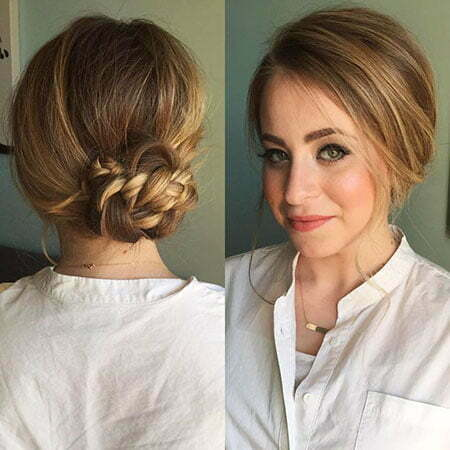 Updo for Thin Hair, Thin Braided Updo Updos