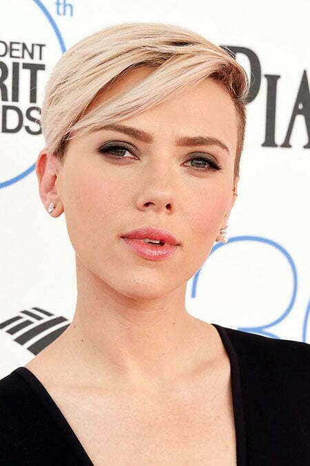 Side Swept Bangs, 2018 Scarlett Johansson Pixie