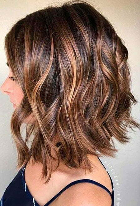 Caramel Balayage, Wavy Hairtyles Balayage Highlights