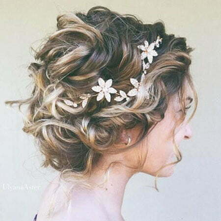 Floral Wedding Hair, Bridal Wedding Hair Updo