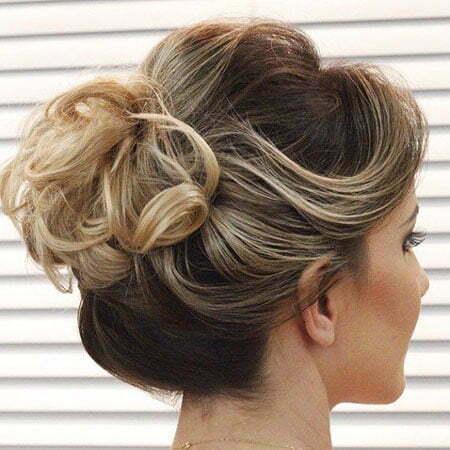 Classy Short Hair Bun, Hair Buns Curly Updos