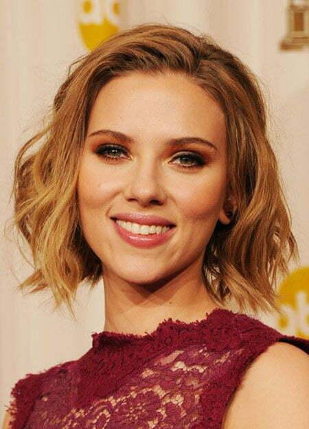 Soft Wavy Bob, Hair Wavy Scarlett Johansson