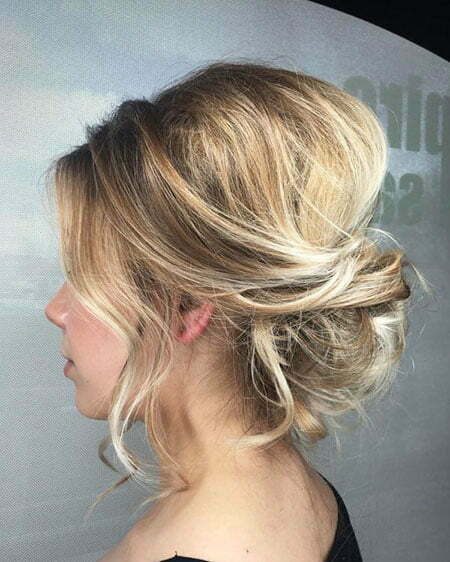 Cute Up Style, Blonde Medium Length Wedding
