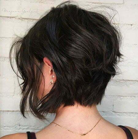 Bob Layered Hair Brunette