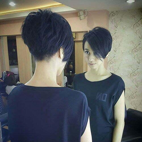 Layered Undercut Pixie Hair