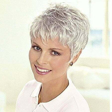 Short Hair Pixie Gray