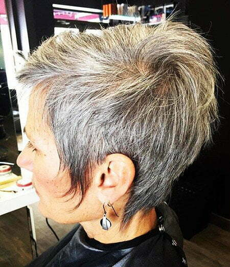 Gray Pixie Brown Short