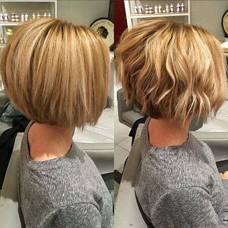 Bob Blonde Haircuts Wavy