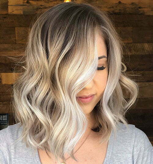 Short Wavy Ombre Haircut 2018