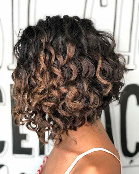 Curly Angled Bobs