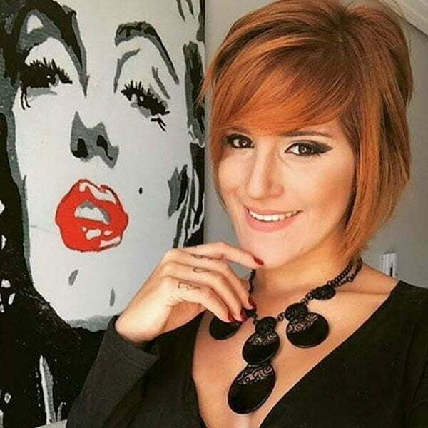 Short Red Hairstyles With Bangs
